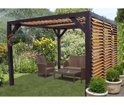 habrita cpergola carport ombra bois 393x310 m av. Black Bedroom Furniture Sets. Home Design Ideas