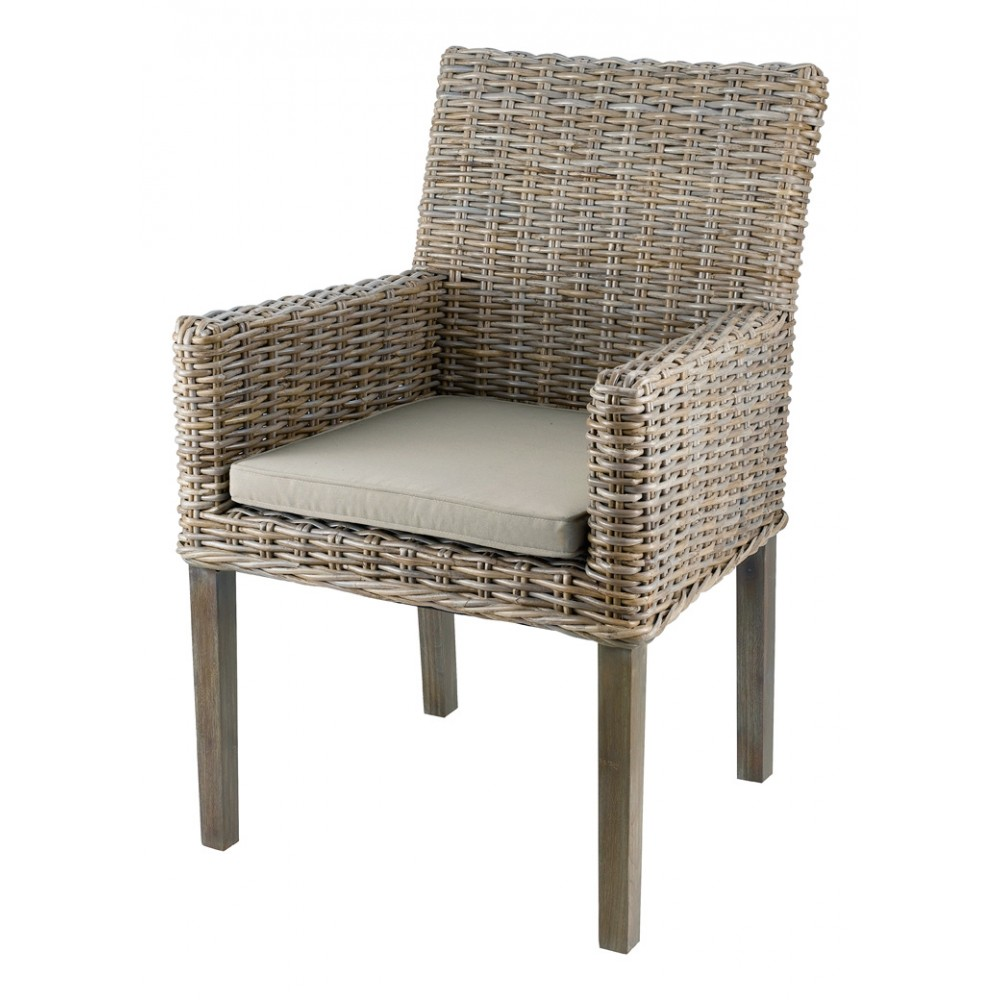 inwood cfauteuil en kubu pieds teck teint gris lot de. Black Bedroom Furniture Sets. Home Design Ideas