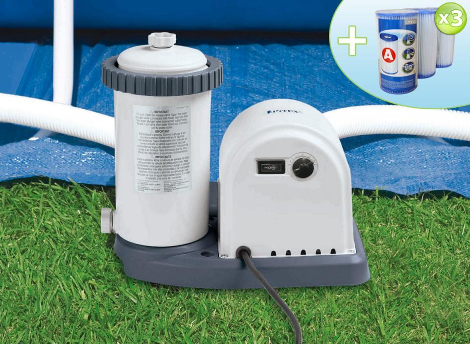 intex epurateur cartouche 5 7 m3 h 3 cartouches catgorie filtration de piscine. Black Bedroom Furniture Sets. Home Design Ideas