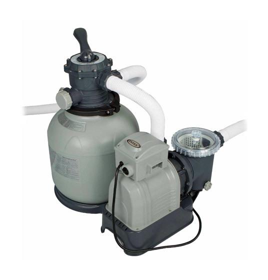 Intex groupe de filtration pump 10m h jusqu 65m3 for Groupe de filtration piscine