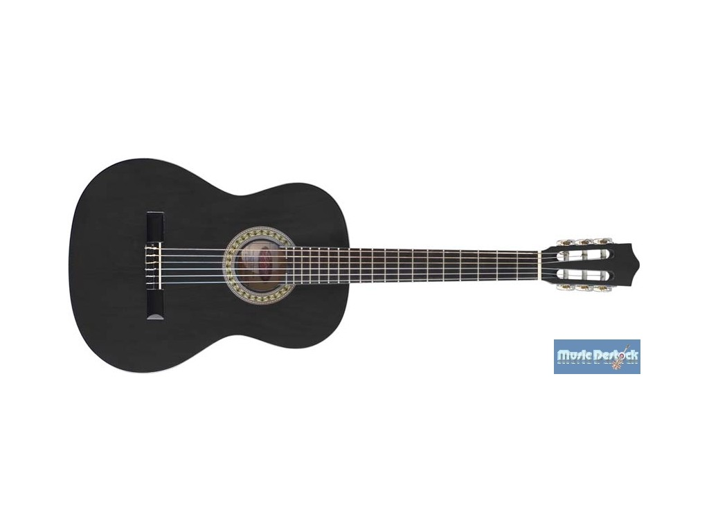 stagg c guitare classique 4 4 tilleul noir. Black Bedroom Furniture Sets. Home Design Ideas