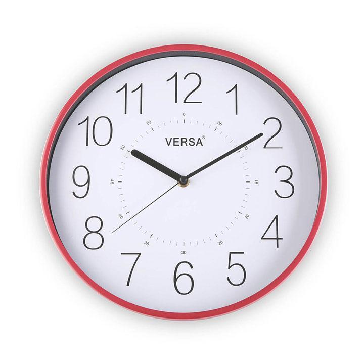 Horloge rouge guide d 39 achat for Recherche pendule murale