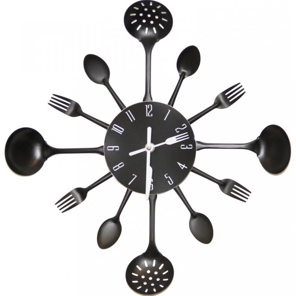 horloge murale cuisine noir. Black Bedroom Furniture Sets. Home Design Ideas