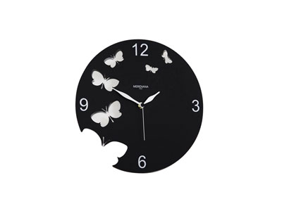 great horloge murale rouge cuisine produit diamantini horloge metal laque ajoure papillon. Black Bedroom Furniture Sets. Home Design Ideas