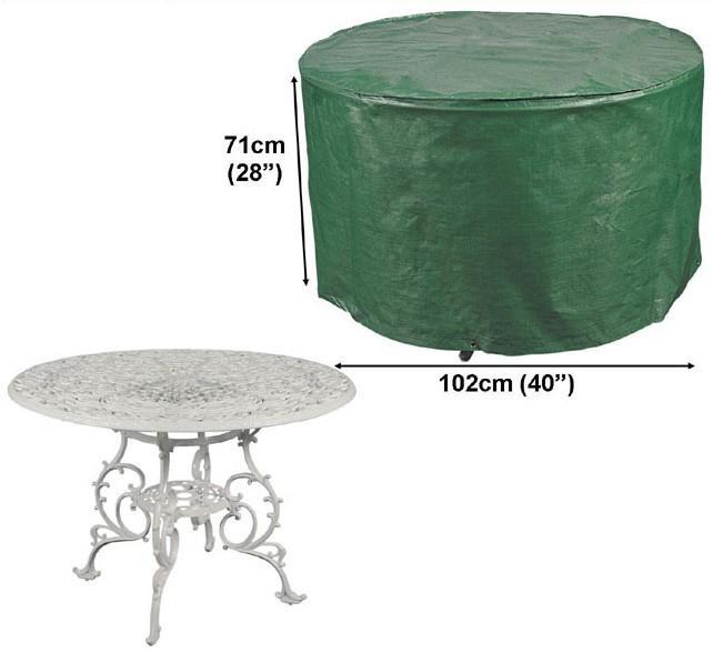 Housse table de jardin ronde des id es int ressantes pour la conception de des for Housse table salon de jardin