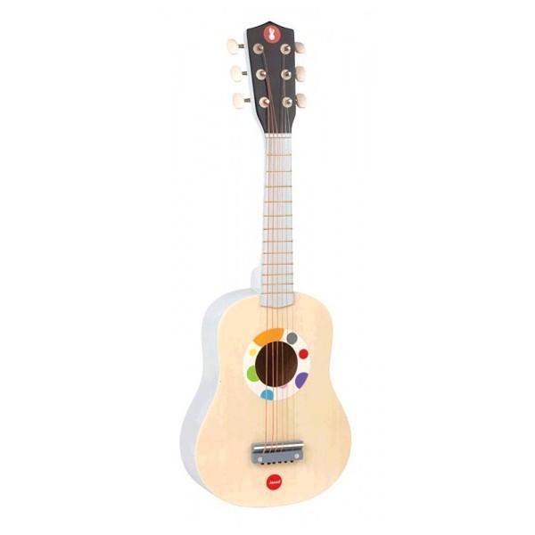 janod guitare naturelle confetti ds 3 ans catgorie. Black Bedroom Furniture Sets. Home Design Ideas