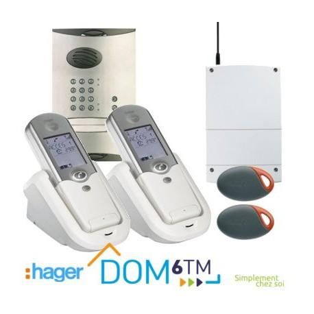 hager cinterphone sans fil kit 2 logements code catgorie. Black Bedroom Furniture Sets. Home Design Ideas