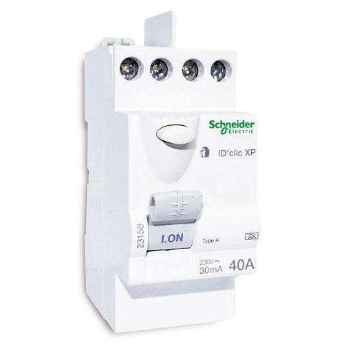 schneider interrupteur differentiel 40a id clic a merlin gerin cat gorie disjoncteur lectrique. Black Bedroom Furniture Sets. Home Design Ideas