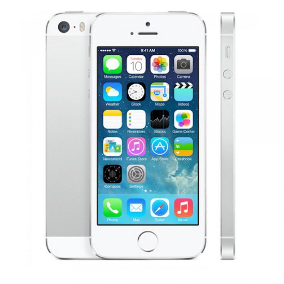 apple iphone 5s 16 go argent dbloqu. Black Bedroom Furniture Sets. Home Design Ideas