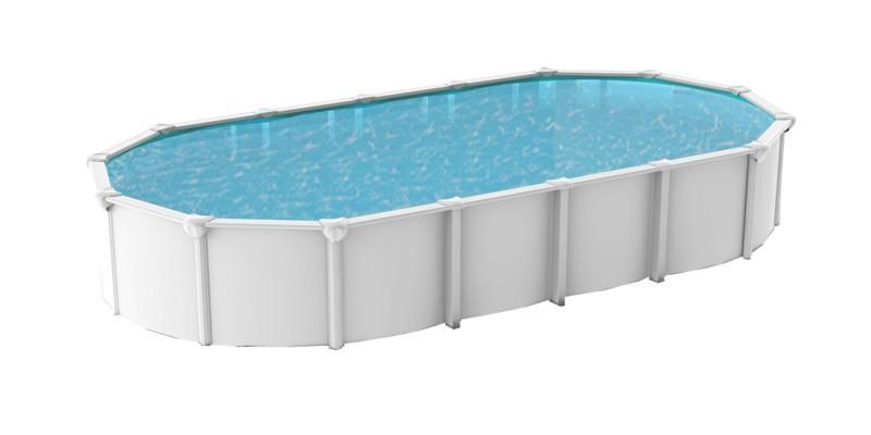 Abak piscine hors sol m tal osmose 9m50 x 4m90 blanc for Abak piscine