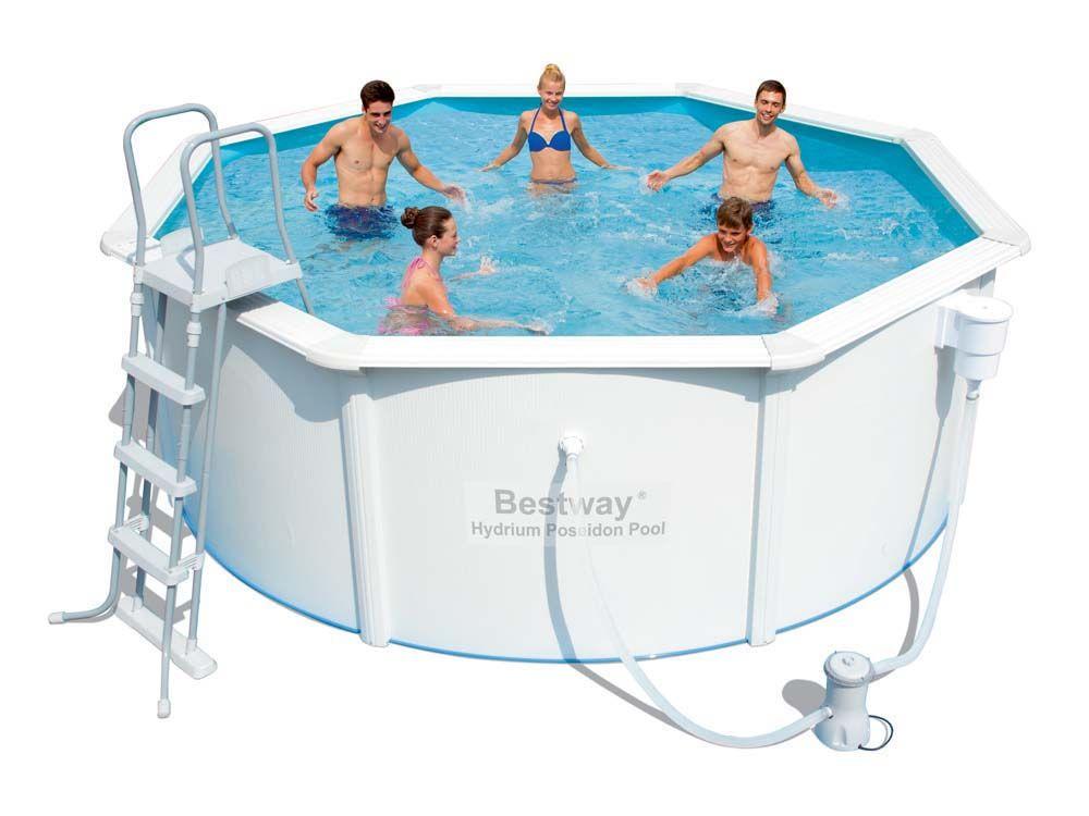 Bestway piscine acier ronde x m for Liner piscine acier ronde