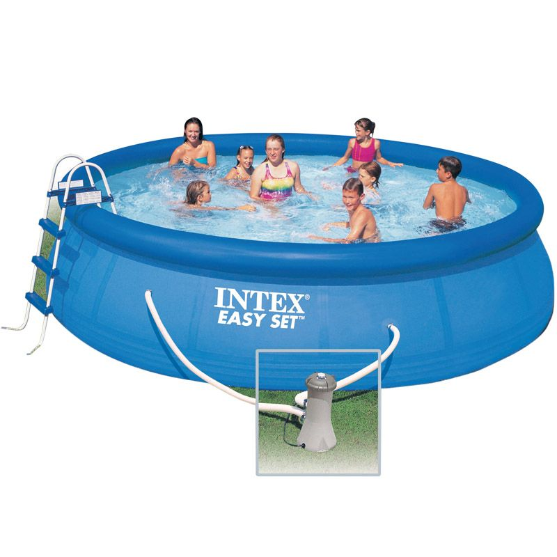 Intex c piscine hors sol easy 488 x 122m for Piscine intex hors sol