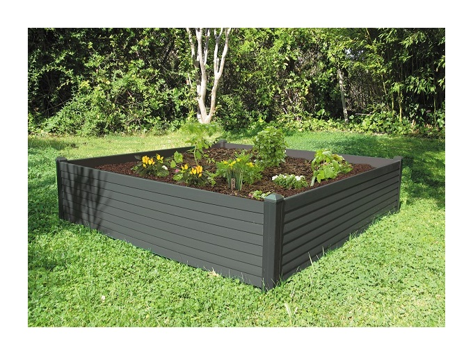 Centroflor ccarr potager 120 x 120 cm anthracite for Bac a poisson rond