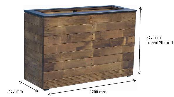 jardipolys bac fleurs rectangulaire 133 litres collectors catgorie pot de fleur. Black Bedroom Furniture Sets. Home Design Ideas
