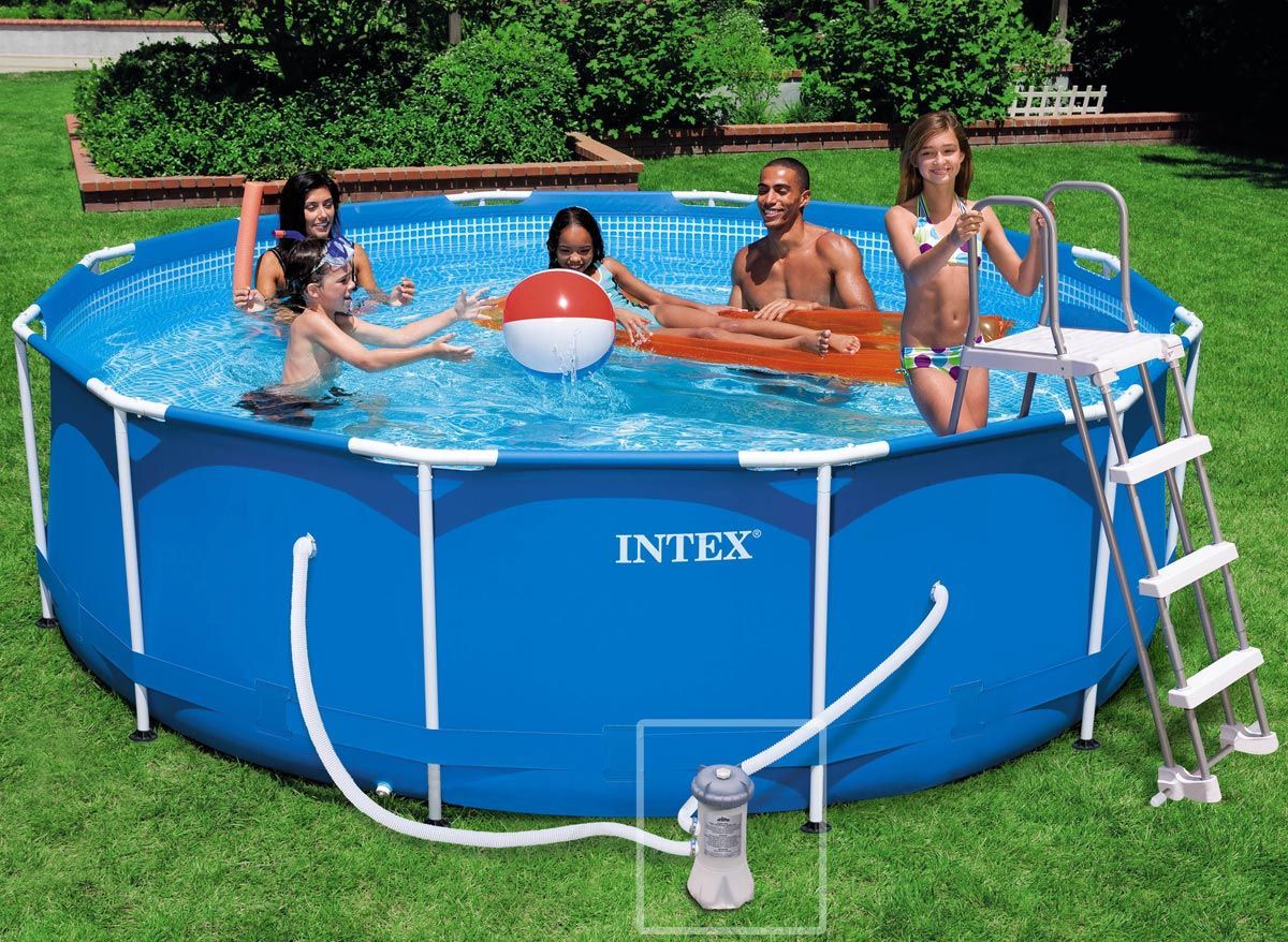 Intex piscine tubulaire 3 66 x 0 99 m cat gorie piscine for Prix piscine intex