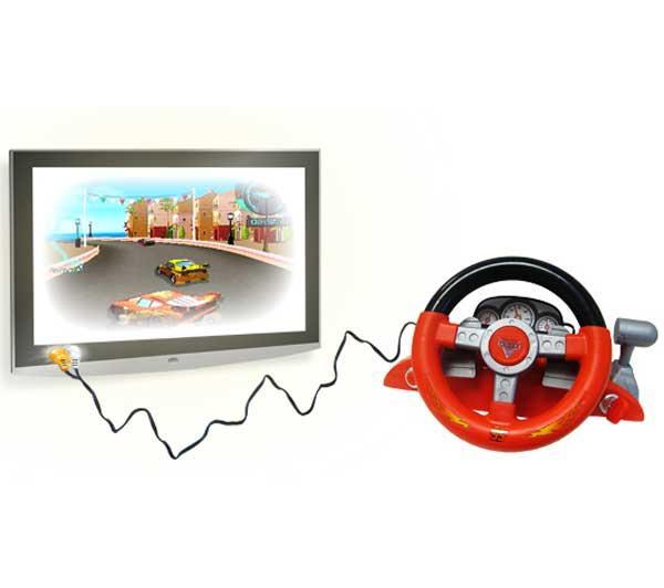 ingo cag001z jeu lectronique volant cars avec je. Black Bedroom Furniture Sets. Home Design Ideas