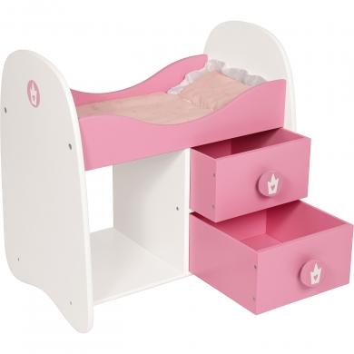 bayer c design lit de poup e en bois princess world ros. Black Bedroom Furniture Sets. Home Design Ideas
