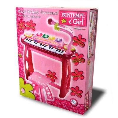 bontempi mk3571 orgue rose 31 touches avec micro et tabou. Black Bedroom Furniture Sets. Home Design Ideas