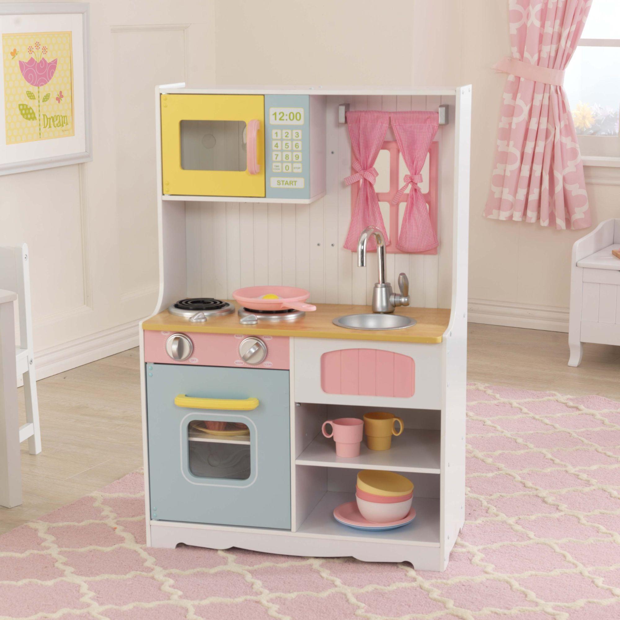 kidkraft ccuisine en bois pastel country. Black Bedroom Furniture Sets. Home Design Ideas