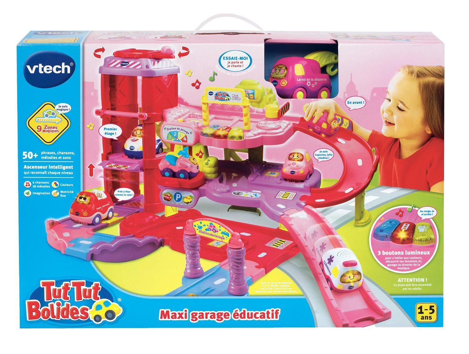 Vtech c digigo rose catgorie trains et circuits - Garage educatif tut tut bolides rose ...