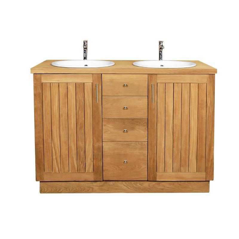 Meuble lavabo teck meuble salle de bain en teck woodeez - Meuble lavabo teck ...