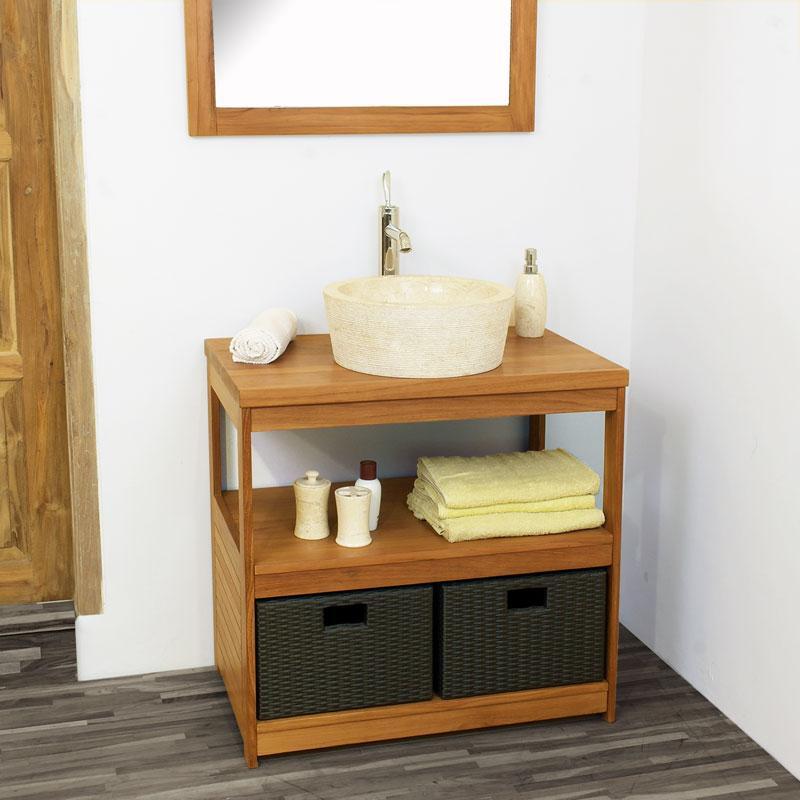 Cat gorie lavabo et vasque page 2 du guide et comparateur for Meuble lavabo teck