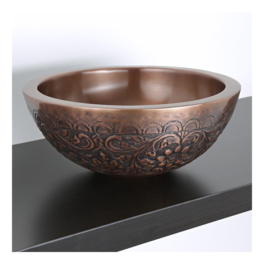 Vasque En Cuivre hudson cvasque ronde à poser cuivre 40cm - reed
