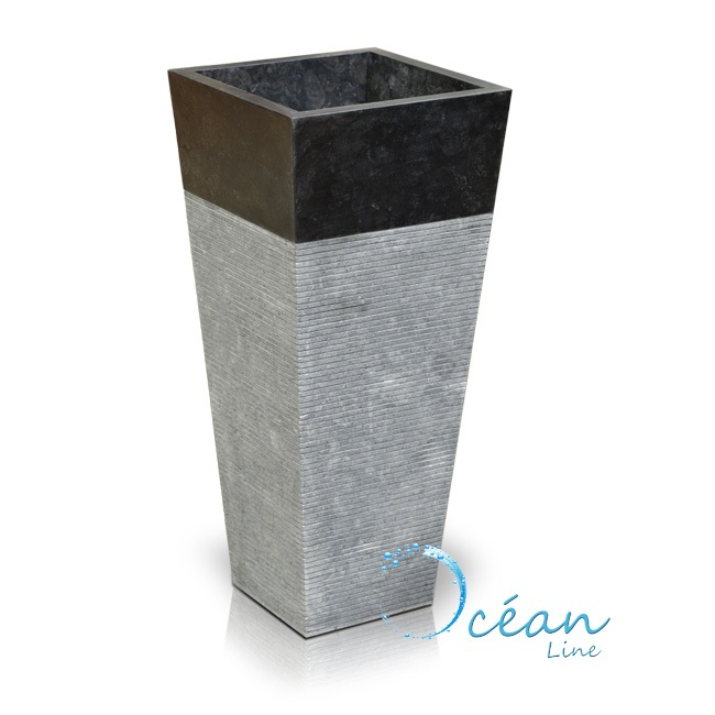 ocean vasque colonne sur pied en marbre noire squario. Black Bedroom Furniture Sets. Home Design Ideas