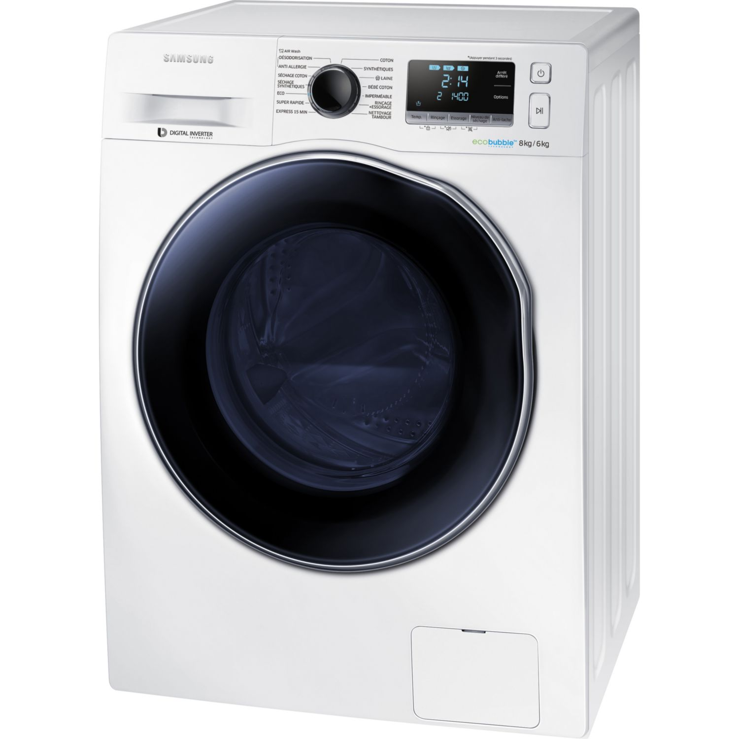 lave linge samsung wf80f5e3u4w lave linge samsung samsung lave linge crystal blue pub tv on. Black Bedroom Furniture Sets. Home Design Ideas