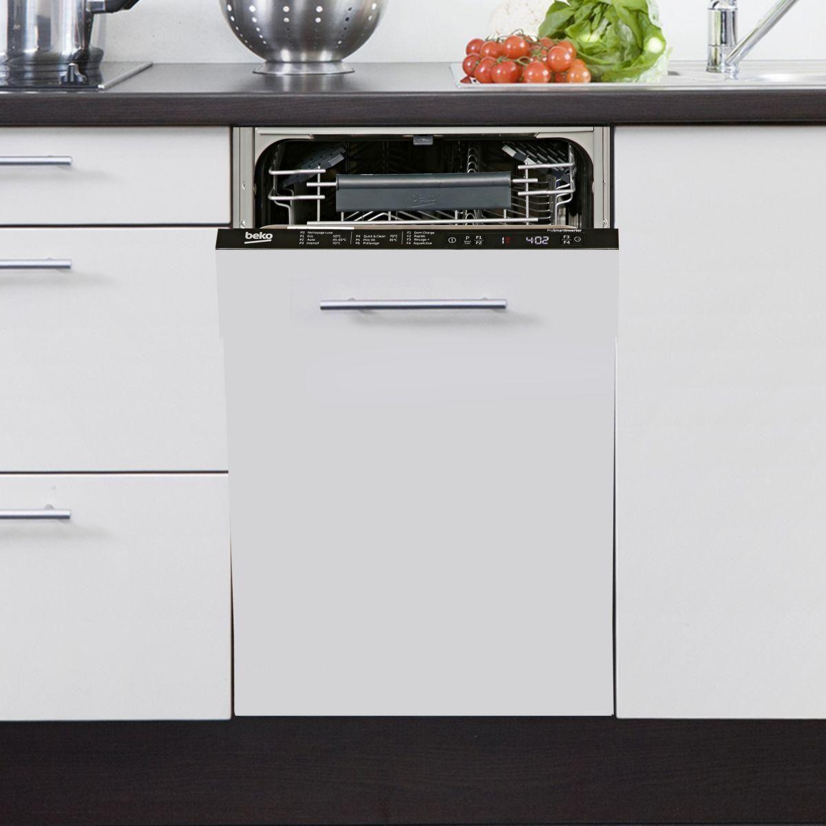 lave vaisselle tout integrable 45 cm beko pdis 26020. Black Bedroom Furniture Sets. Home Design Ideas