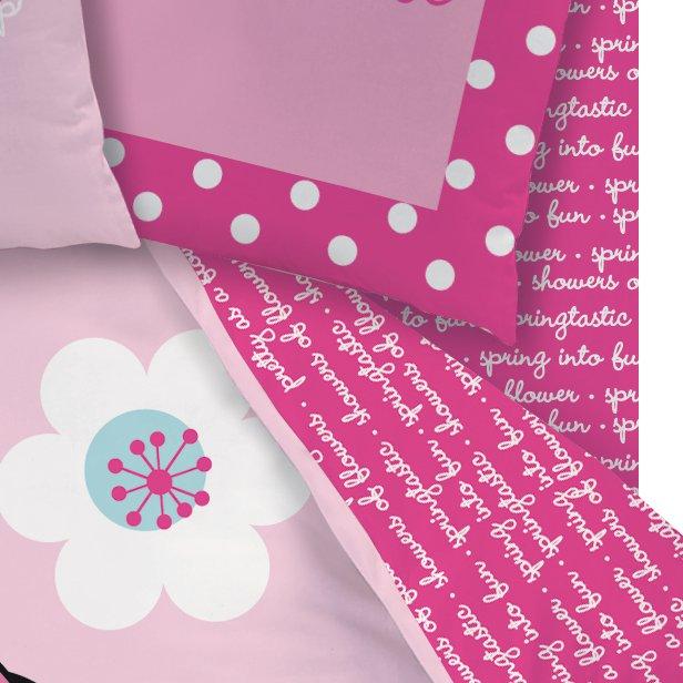 cti linge de lit dh 90x190 minnie pink flowers. Black Bedroom Furniture Sets. Home Design Ideas