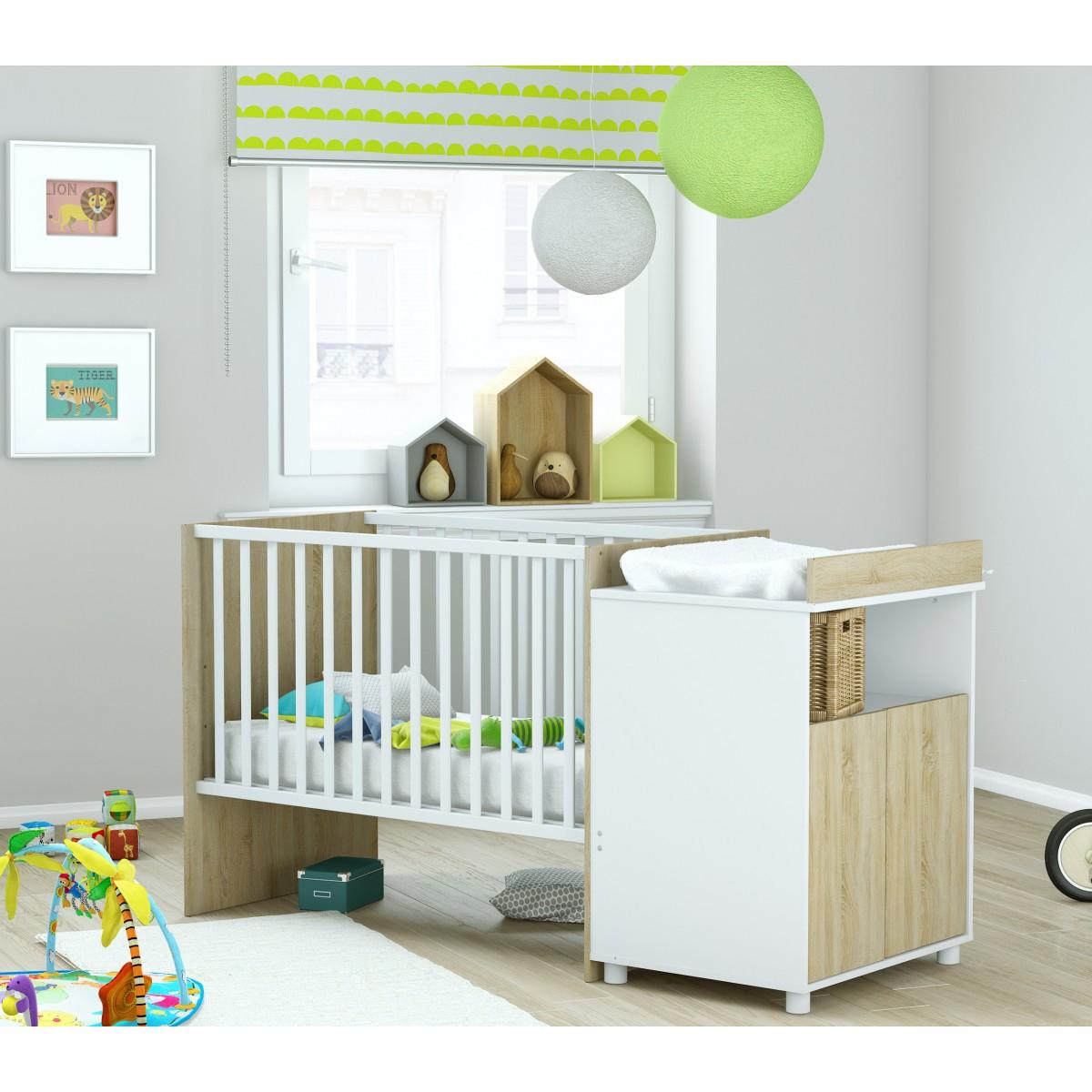 someo lit b b 60x120 evolutif en lit enfant 90x200 jack. Black Bedroom Furniture Sets. Home Design Ideas