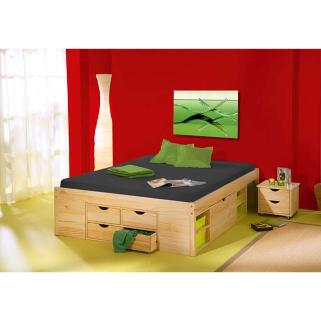 lit avec rangement interlink till 140 x 190. Black Bedroom Furniture Sets. Home Design Ideas