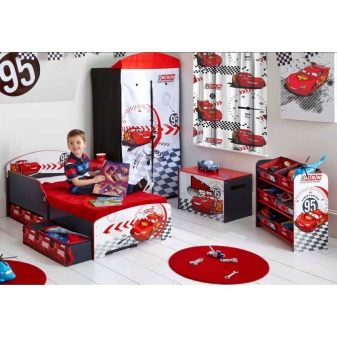 chambre enfant cars circuit disney 7 pi ces avec 2 tiroirs et 1 tablette rouge et. Black Bedroom Furniture Sets. Home Design Ideas
