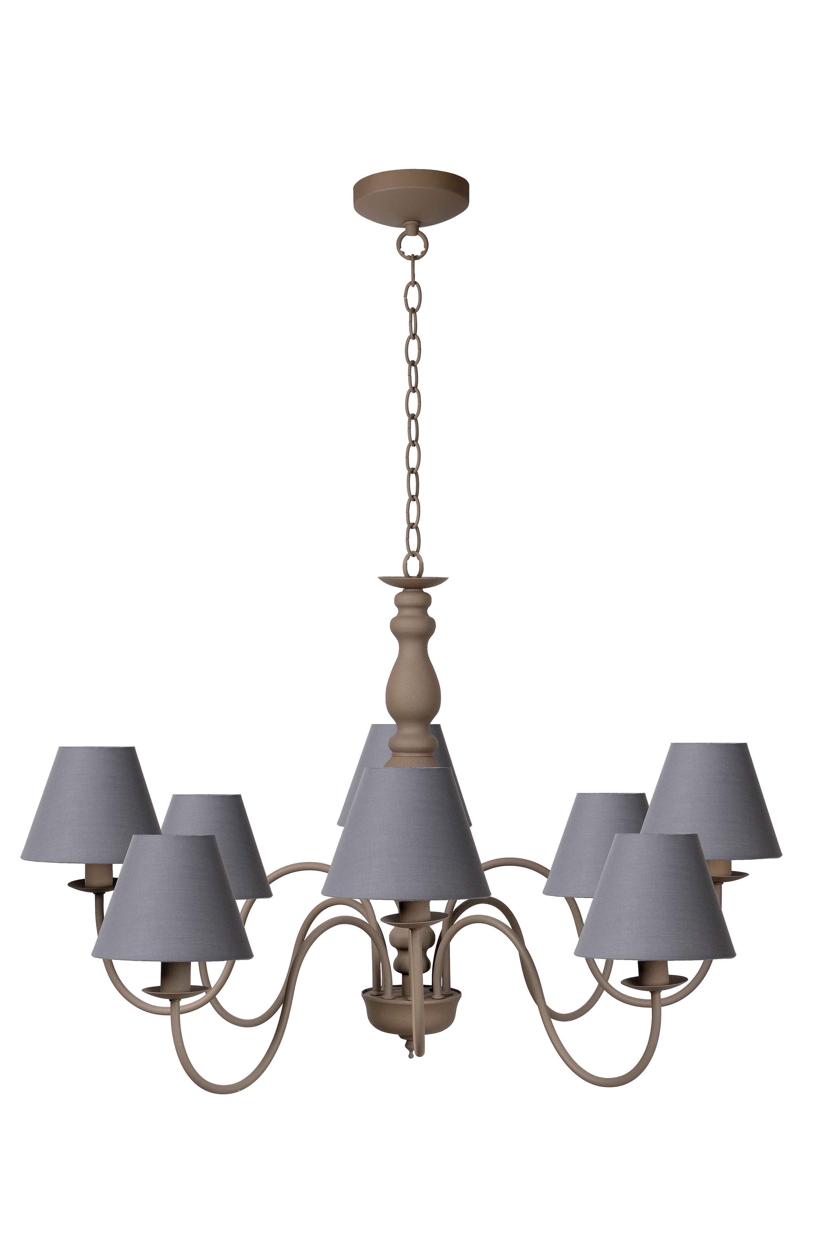 Lucide campagne lustre m taupe - Lustre couleur taupe ...
