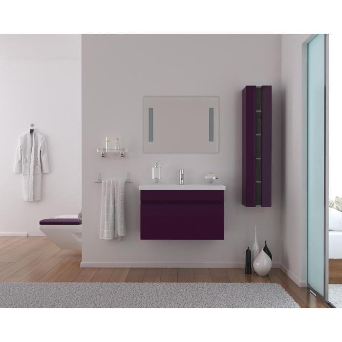 meuble salle de bain aubergine 80 cm