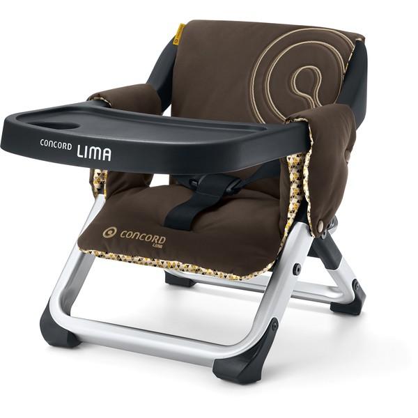 concord chaise haute de voyage lima walnut brown. Black Bedroom Furniture Sets. Home Design Ideas