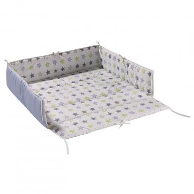 geuther tour de parc gris etoile 102x102. Black Bedroom Furniture Sets. Home Design Ideas