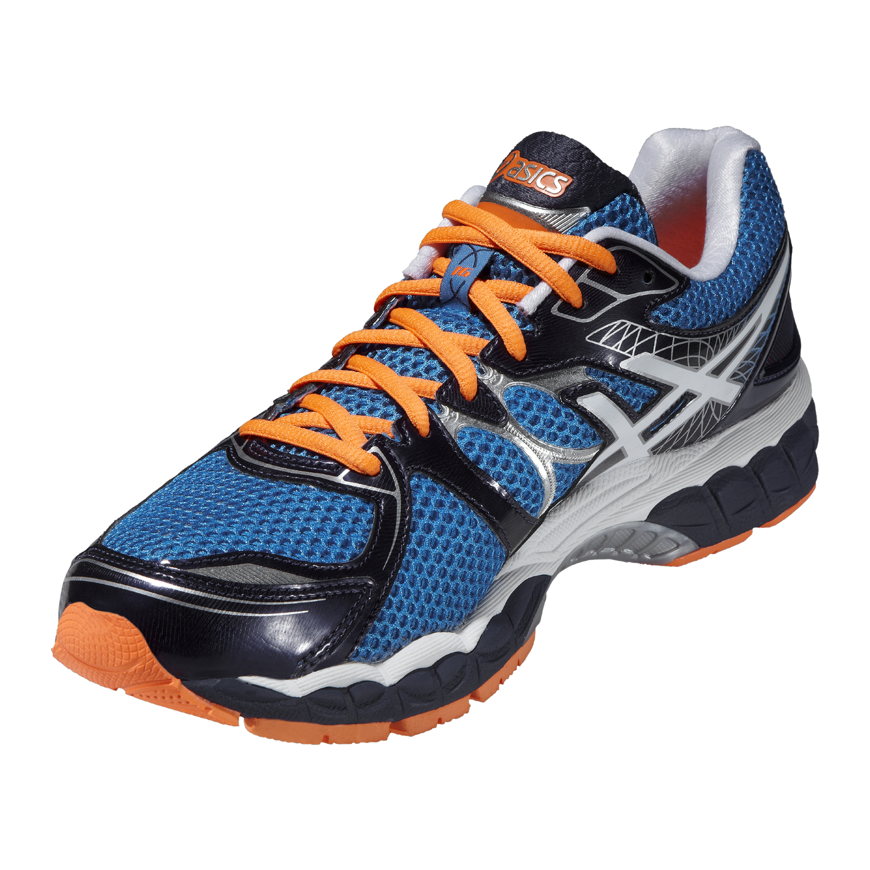 asics chaussures running homme gel nimbus 16 m bleu. Black Bedroom Furniture Sets. Home Design Ideas