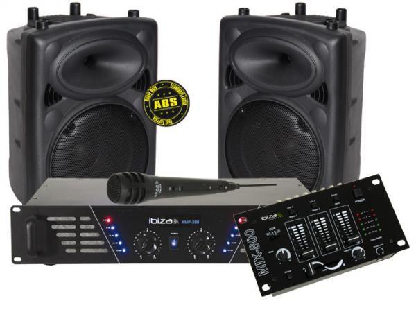 ibiza kit de sonorisation sono dj300mkii. Black Bedroom Furniture Sets. Home Design Ideas