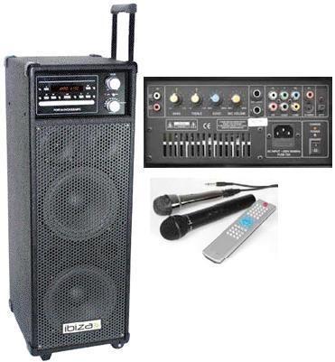 ibiza port 8 sono dj pa portable dvd mp3 usb radio micro. Black Bedroom Furniture Sets. Home Design Ideas