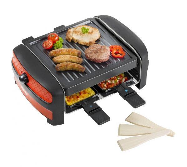bestron arc400 appareil raclette grill design pour 4 personn. Black Bedroom Furniture Sets. Home Design Ideas