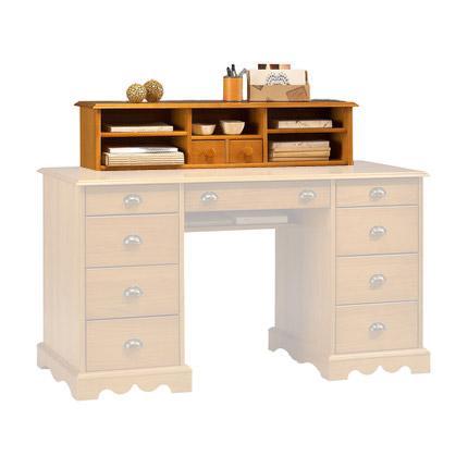 r hausse pour bureau ministre de style anglais pin miel. Black Bedroom Furniture Sets. Home Design Ideas
