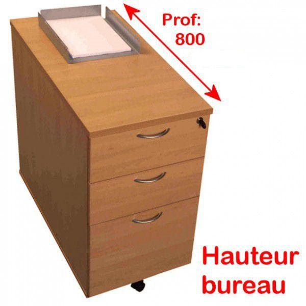 Plan de caisson guide d 39 achat for Meuble bureau hauteur 70