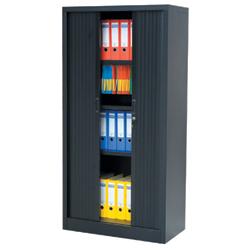 N armoire portes rideaux cm rs to go d cor for Meuble bureau 180 cm