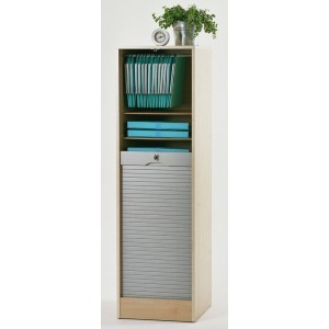 simmob armoire de bureau rideau en bois avec serrure h104cm caisson blanc boost campagne. Black Bedroom Furniture Sets. Home Design Ideas