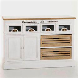 Buffet de cuisine en bois avec plateau pivotant l131cm - Buffet de cuisine en bois ...