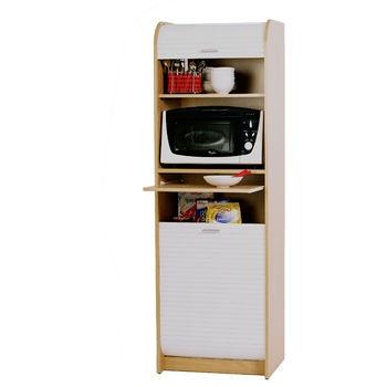 simmob colonne de rangement cuisine h180cm fermeture 2 rideaux. Black Bedroom Furniture Sets. Home Design Ideas