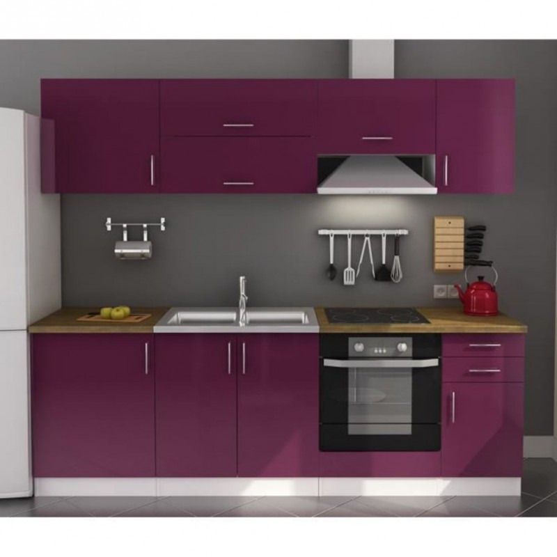swithome cuisine compl te am lie aubergine laqu. Black Bedroom Furniture Sets. Home Design Ideas