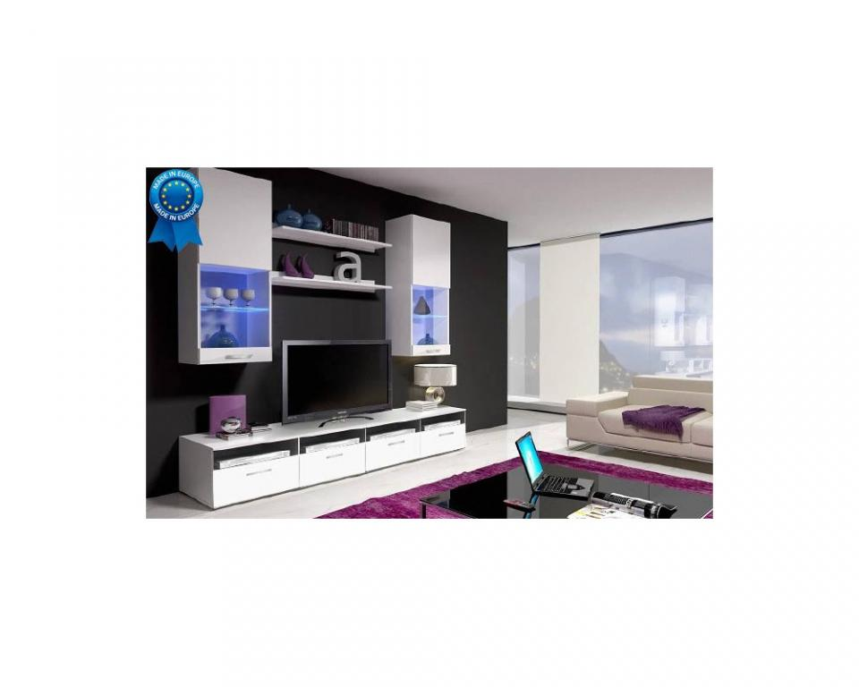 meuble tv mural lumineux sammlung von. Black Bedroom Furniture Sets. Home Design Ideas
